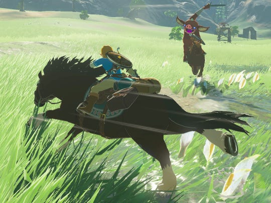 A scene from 'The Legend of Zelda: Breath of the Wild.'