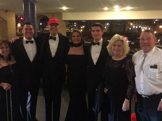 A group photo of some Delaware Republicans leaving for the Texas Society of Washington D.C. Black Tie and Boots ball. Pictured from left to right, Kim Alfano, Anthony Wedo, Carrie Wedo, Michael Wedo, Bonnie McCann, Hank McCann, chairman of Kent count GOP.