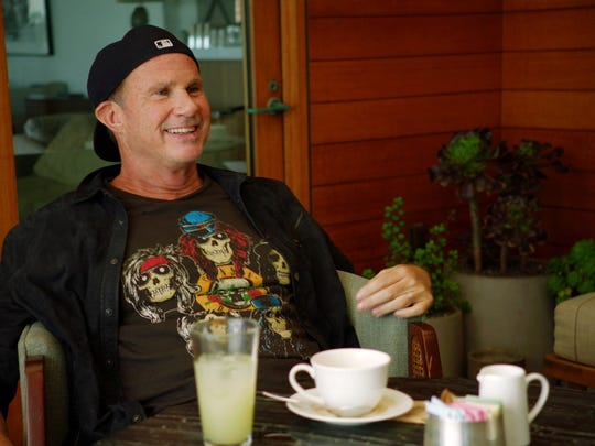 Chad Smith of the Red Hot Chili Peppers on the set
