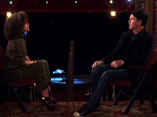 Chad Smith (right) with Alicia Keys on the debut episode