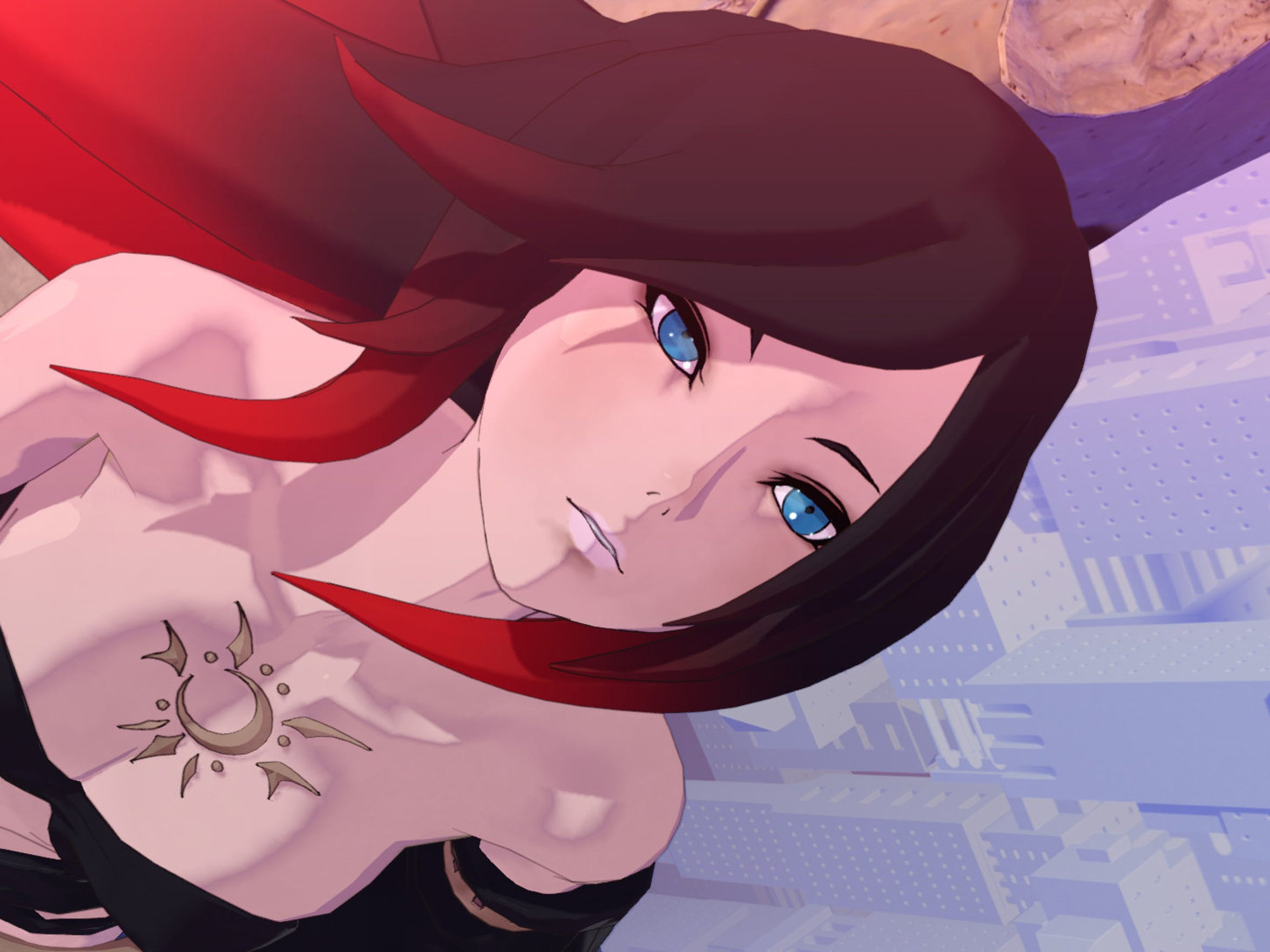 The powerful Raven makes an appearance in Gravity Rush