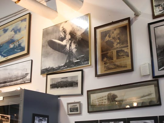 The Hindenburg disaster took place 80 years ago this May. The Navy Lakehurst Historical Society maintains the Hindenburg Airship Memorabilia Room within Hangar 1 on Joint Base McGuire-Dix-Lakehurst.   Lakehurst, NJ Friday, February 17, 2017. @dhoodhood