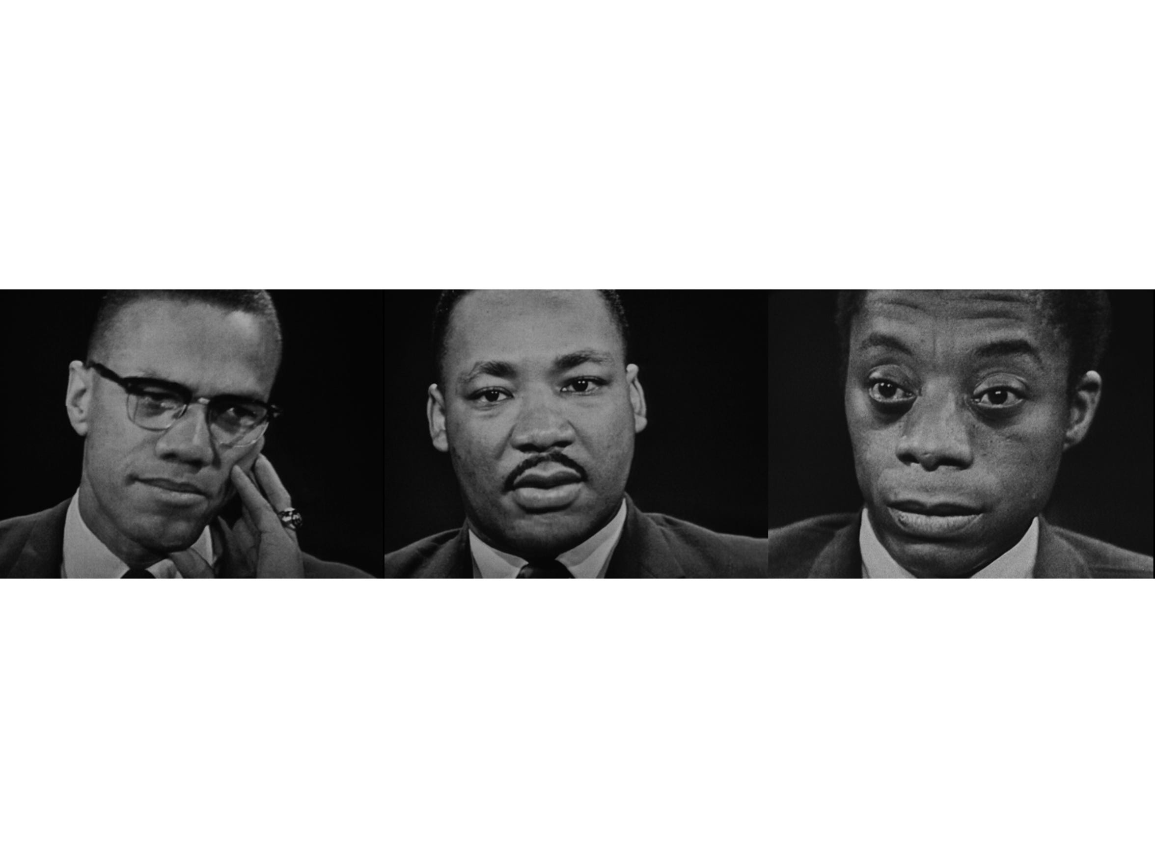 Malcolm X, Martin Luther King Jr. and James Baldwin