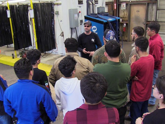 The Hammons Education Leadership Programs, Inc., or HELP, led a group of Ray High School seniors through the Valero Refinery and Maverick testing labs. The visits took place Wednesday Feb. 21, 2017.