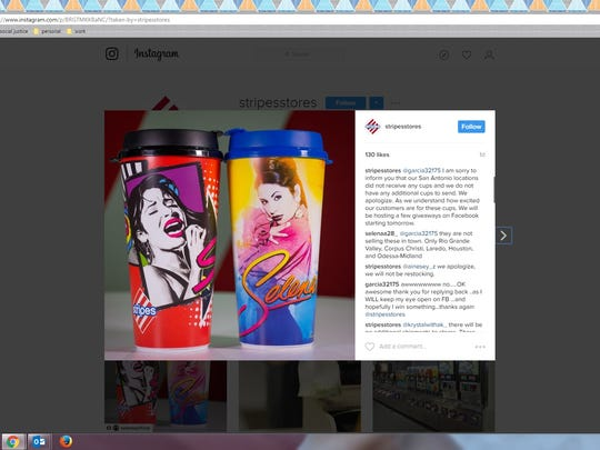 Stripes issues an apology for shipment of commemorative Selena cups that did not make it to San Anotnio.
