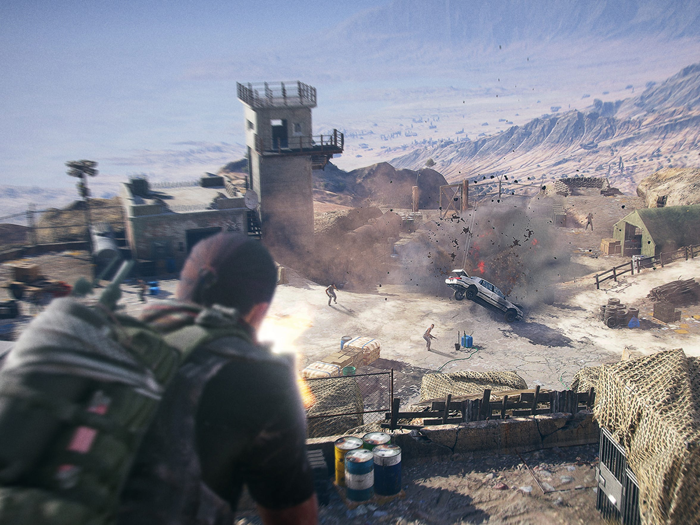 Lay waste on the Santa Blanca cartel's outposts in