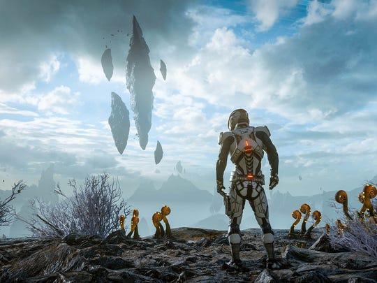 Mass Effect Andromeda features strange new alien worlds.