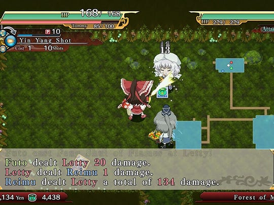 Fight foes that look like familiar Touhou characters in Touhou Genso Wanderer.