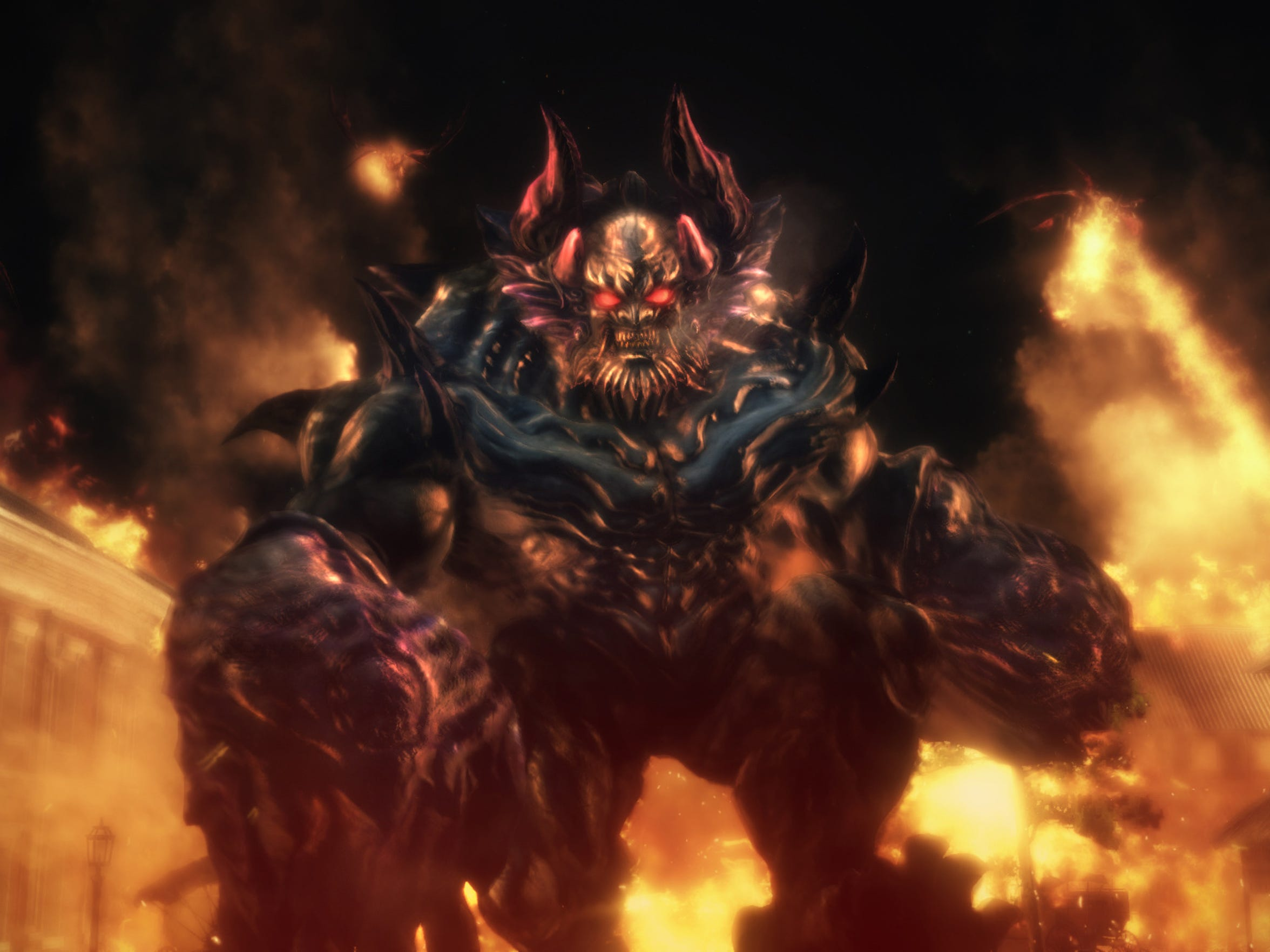"Devilish ""oni"" or demons launch a fierce assault on mankind in Toukiden 2."
