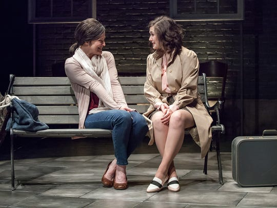 Annie Fitzpatrick (L) and Becca Howell star in Ensemble