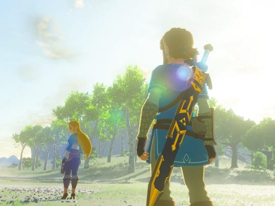 "Princess Zelda and the chosen hero Link play starring roles once again in ""Legend of Zelda: Breath of the Wild."""