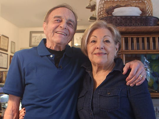 87 year old inventor Nathan Zaccaria and his wife Fran in their Long Branch home.