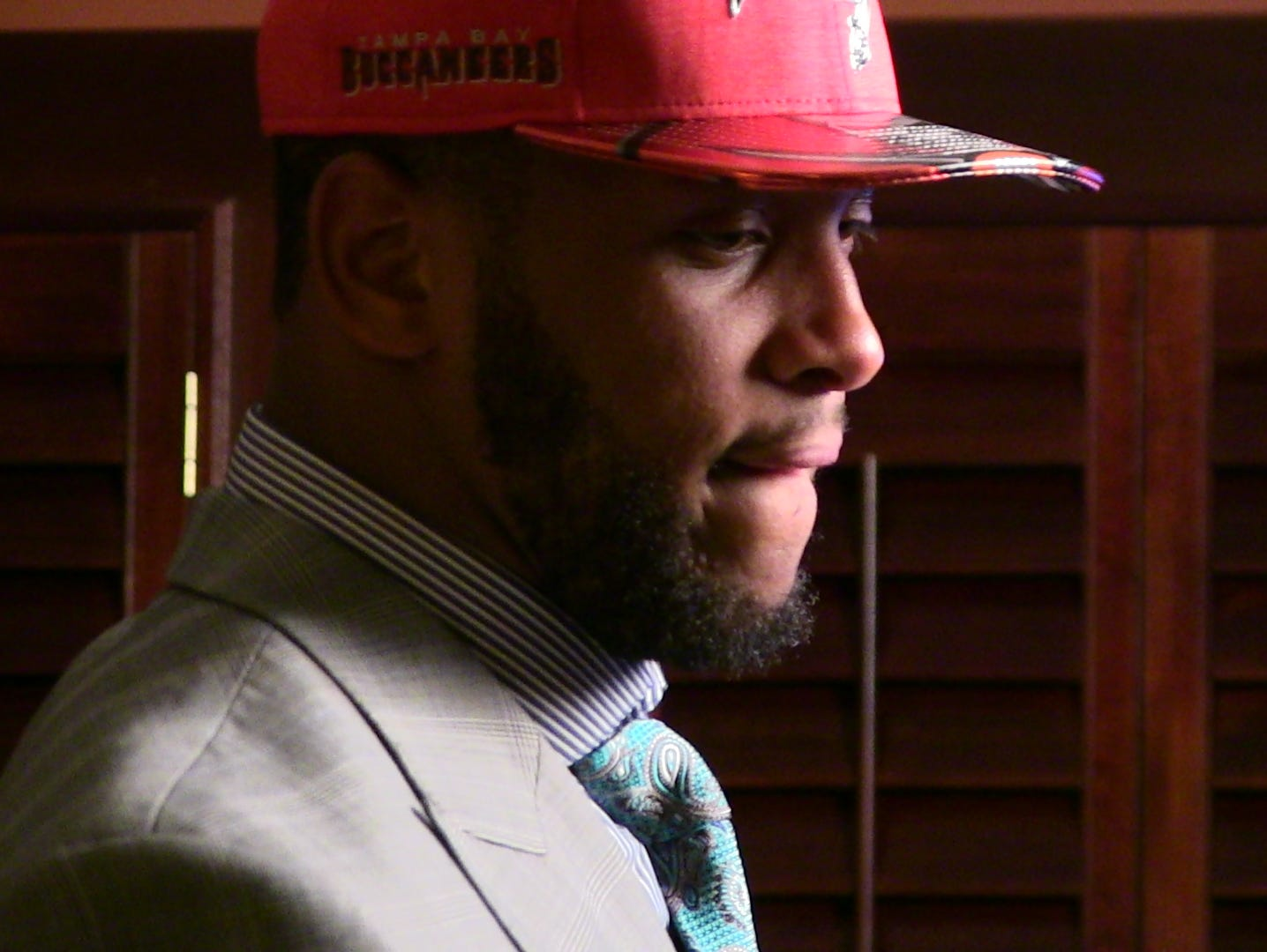 O.J. Howard was taken in the first round by the Tampa Buccaneers in Day 1 of the NFL draft Thursday night.