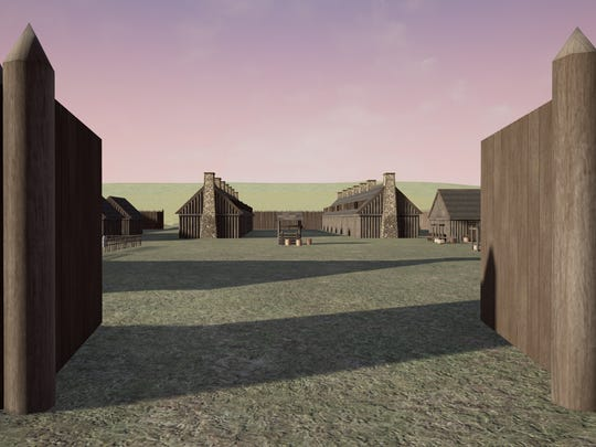 Graphics design students in the Purdue Polytechnic Institute used historic descriptions and archaeological evidence to make animated sketches of what Fort Ouiatenon, an 18th century trading post along the Wabash River, might have looked like.