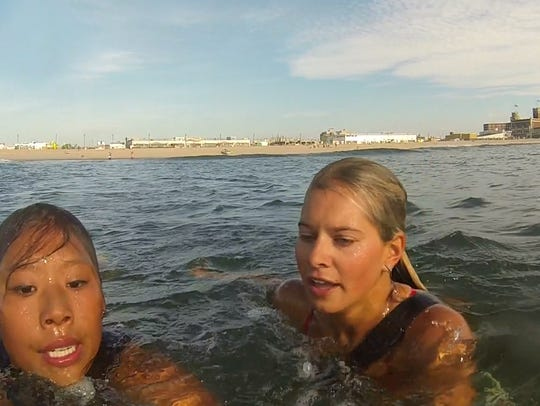 Asbury Park lifeguards train on the beach they protect