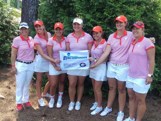 Members of Clemson's women's golf team savor their