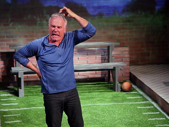 """Friday-Sunday: John Posey in """"Father, Son and Holy Coach"""" at the CVRep Theatre."""