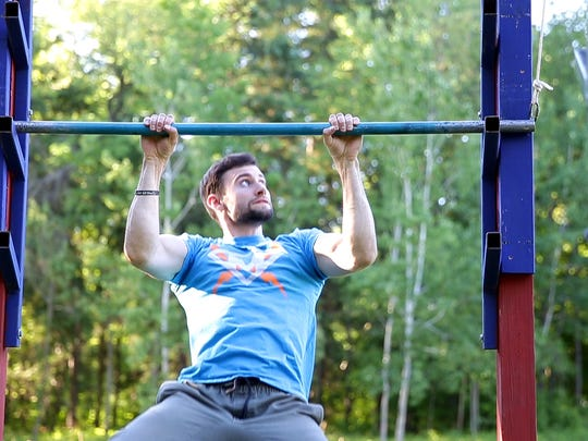 """Drew Knapp of Suamico, who has participated on """"American Ninja Warrior"""" and launched the Warrior Jungle gym in De Pere, will have a """"Ninja Warrior""""-style obstacle course on hand in Neenah on Saturday."""