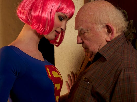 "Ruby Modine and Edward Asner in a scene from ""Super Sex"" directed by Matthew Modine and screened at Palm Springs International ShortFest 2017."