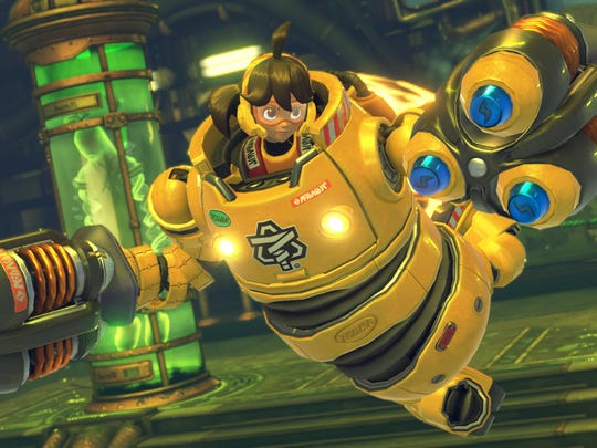 Mechanica's hover ability gives her added mobility in ARMS.