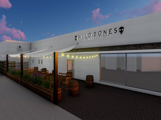 A rendering of Wild Bones Brewing in Morristown.