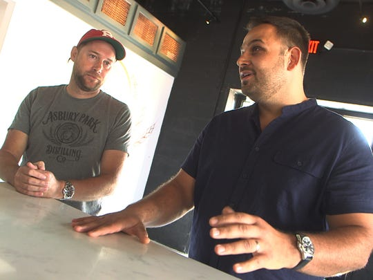 Asbury Park Distilling Co. owners, Rob Wile (left)