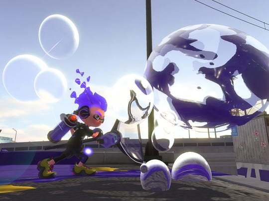 The Bubble Blower in Splatoon 2 for the Nintendo Switch.
