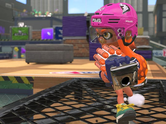 The Clash Blaster in Splatoon 2 for the Nintendo Switch.