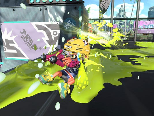 The Dapple Dualies in Splatoon 2 for the Nintendo Switch.
