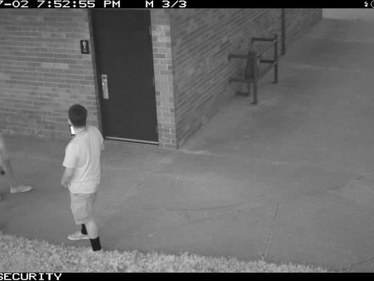 Video surveillance still of Pulaski Park in Manitowoc.