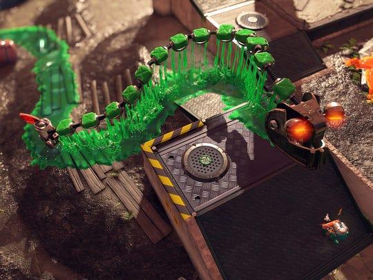 The Steel Eel in Splatoon 2's Salmon Run mode.