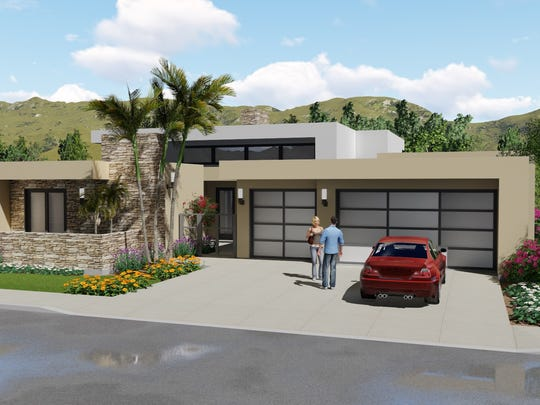 Jeb Allen of Palomar Builders said he got the idea for the flat-roof design after visiting subdivisions in Las Vegas.