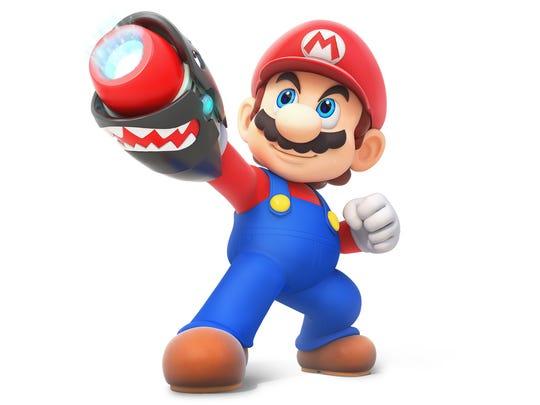 Mario in Mario + Rabbids Kingdom Battle for the Nintendo Switch.
