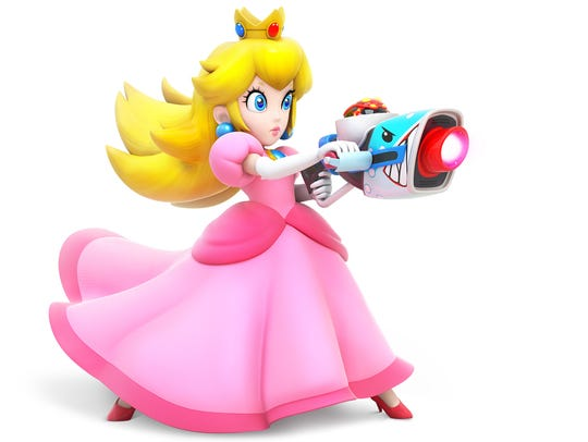 Princess Peach in Mario + Rabbids Kingdom Battle for