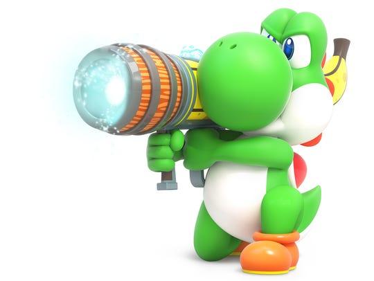 Yoshi in Mario + Rabbids Kingdom Battle for the Nintendo