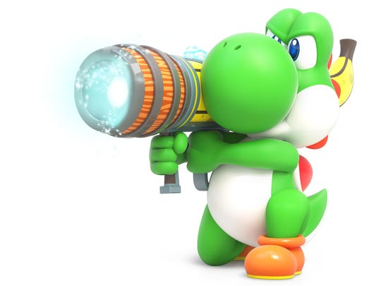 Yoshi in Mario + Rabbids Kingdom Battle for the Nintendo Switch.