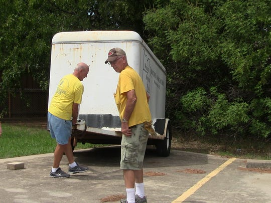 Volunteers from Baptist churches in the Wichita Falls area headed to the Houston area this week to prepare meals for thousands of evacuees who are in shelters in that storm ravaged part of Texas.