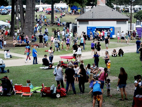 Folks fill Columbia Park each year for the Highland Jazz and Blues Festival, which returns to the Shreveport neighborhood this month.