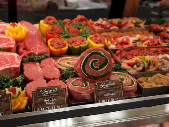 The custom meat case the newly remodeled ShopRite in Ramsey. Inserra Supermarkets is known for its in-store butchers.
