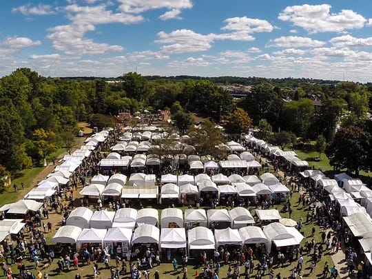 An overview of the Art & Apples Festival in Rochester.