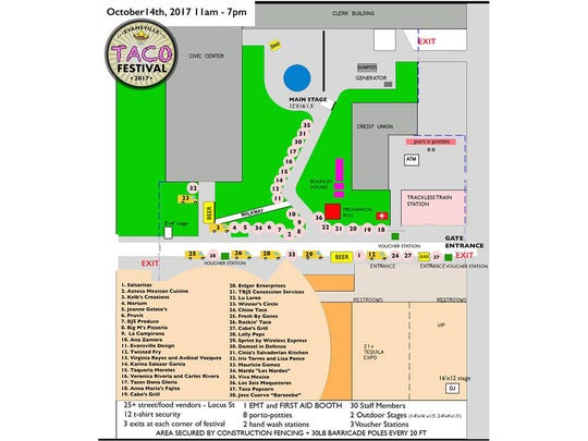 2017 Taco Festival map