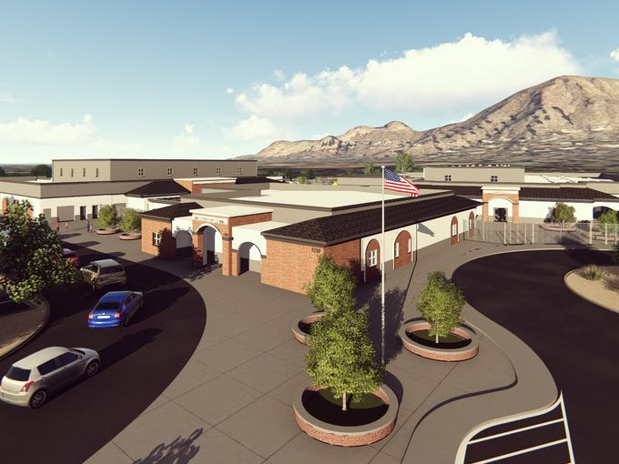 A rendering of the redesign for Hopi Elementary School
