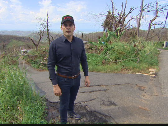 David Begneaud reports on the devastation caused by Hurricane Maria in Puerto Rico.