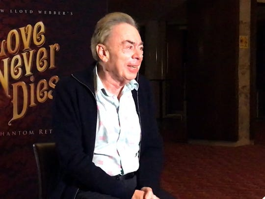 "Andrew Lloyd Webber talks about ""Love Never  Dies"" from the lobby of Detroit's Fisher Theater, where the musical is  having its official U.S. tour opening."