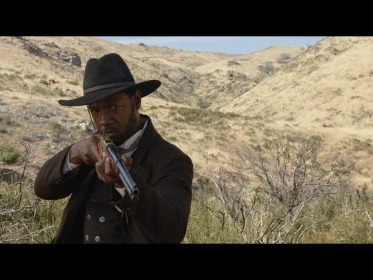 "A still from ""Lawman,"" which tells the story of the first African-American deputy U.S. marshal west of the Mississippi River."