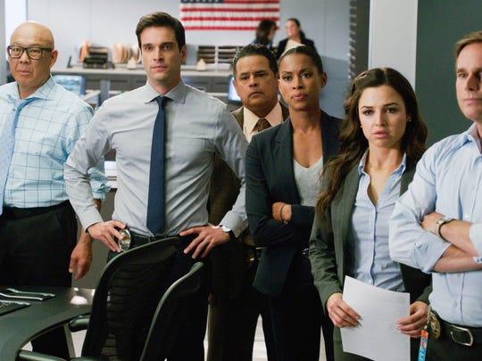Jessica Meraz, second from right, stars in a scene