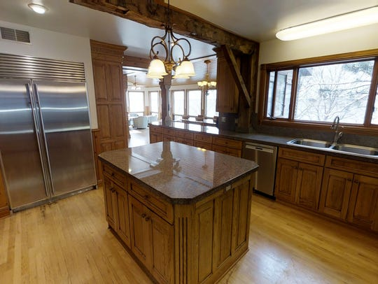 Ample space for cooking and a view from the kitchen