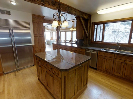 Ample space for cooking and a view from the kitchen sink are hallmarks of the home at 7911 North Shore Drive, Spicer.
