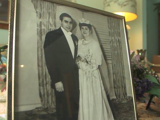 WWII veteran, Vito Perillo pictured with his late wife