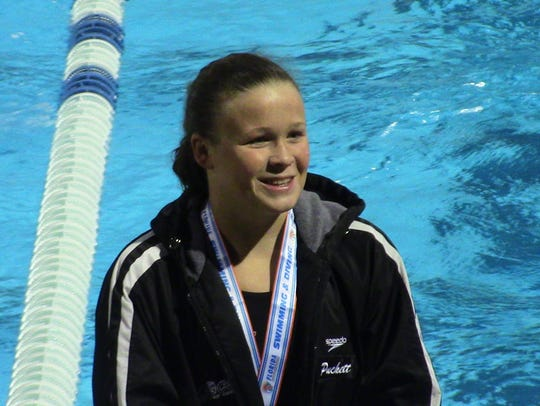 Estero sophomore Mikayla Puckett took home two medals